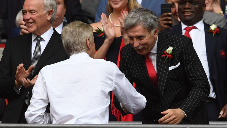 Arsenal fans have protested for owner Stan Kroenke (right) and Arsene Wenger to leave the club
