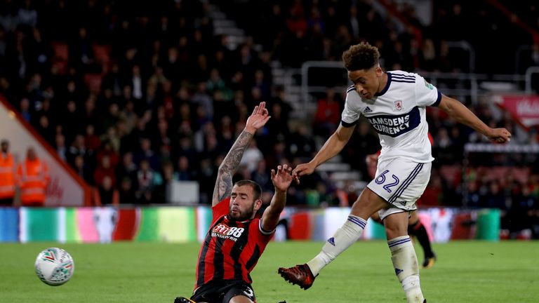 Marcus Tavernier scored Middlesbrough's only goal of the night