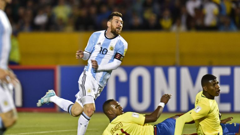 Lionel Messi scored a stunning hat-trick against Ecuador