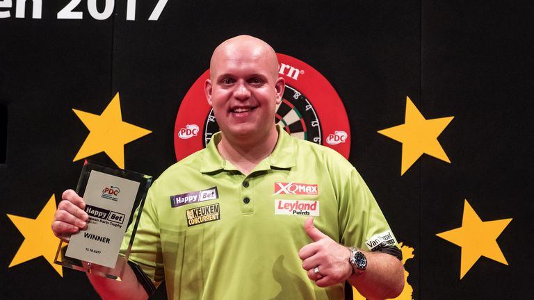 Michael van Gerwen beat Rob Cross to claim another European Tour title in Germany at the weekend