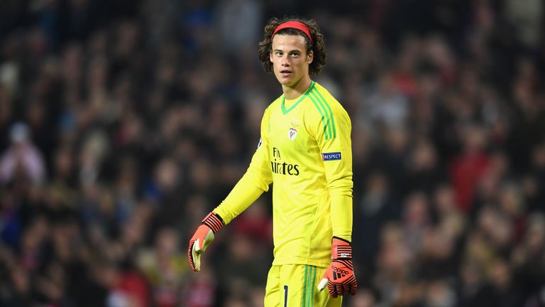 Mile Svilar had another eventful night in goal for Benfica on Tuesday
