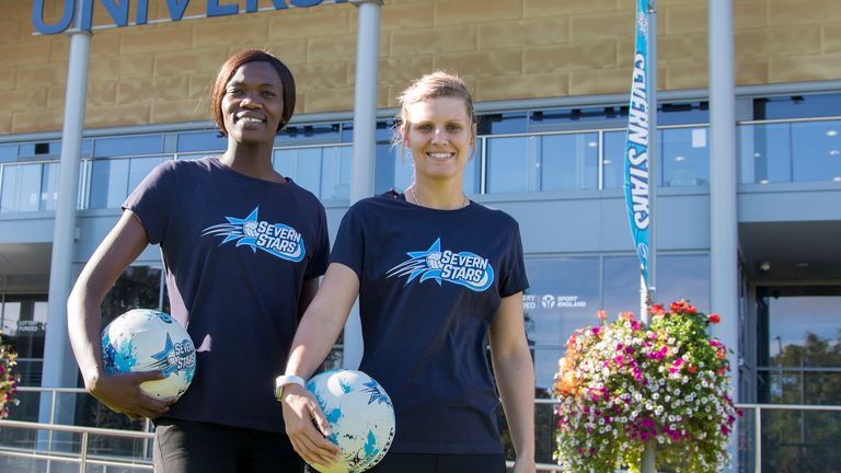 Maryka Holtzhausen (right) and Phumza Maweni have signed for the Severn Stars