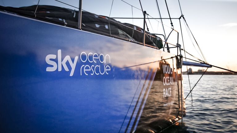 Volvo Ocean Race dramatic start for Sky partner