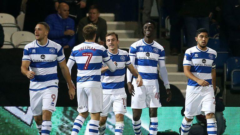 QPR's Idrissa Sylla (right) celebrates his goal against Sheffield United