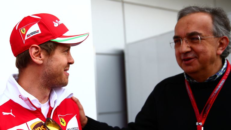 Sergio Marchionne expects a calmer Sebastian Vettel next season