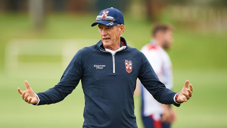 Wayne Bennett was coy when asked about his future after the World Cup final