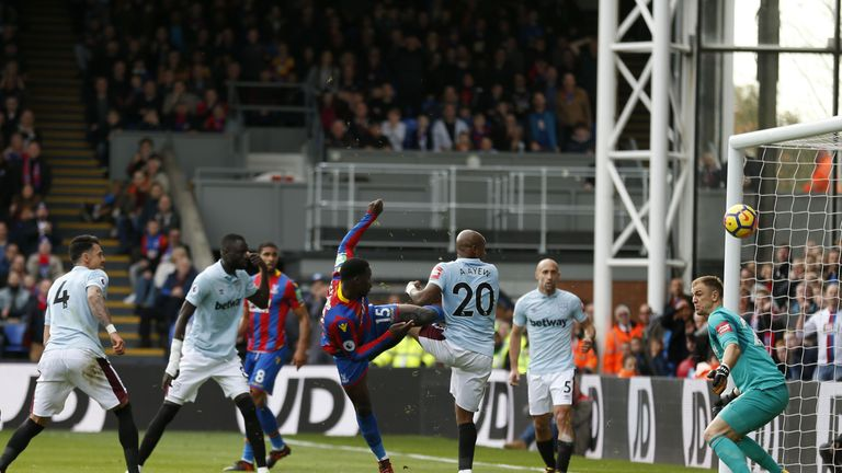 Joe Hart made a number of crucial saves, including one from Schlupp with his shoulder