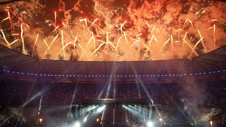 Fireworks goes off before Haye faced Klitschko