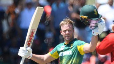 AB de Villiers hit his highest ODI score as South Africa beat Bangladesh