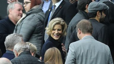 Businesswoman Amanda Staveley was at St James' Park for Newcastle's game against Liverpool