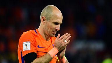 Netherlands' Arjen Robben scored twice against Sweden but it wasn't enough