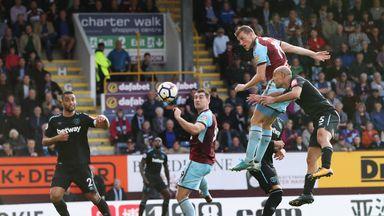 Chris Wood scored an 85th-minute equaliser for Burnley