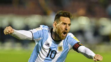 Lionel Messi celebrates his individual masterclass for Argentina