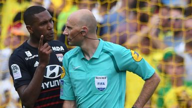 Marcelo was shown a red card after knocking a yellow card out of the referee's hand