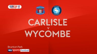 Carlisle 3-3 Wycombe