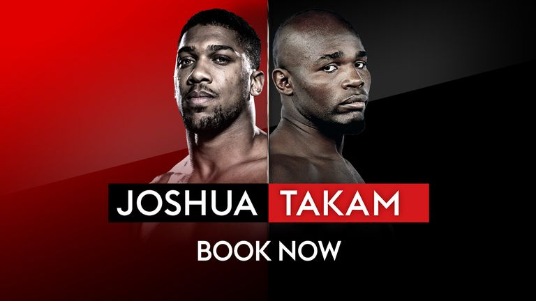 Joshua vs Takam, live on Sky Sports Box Office