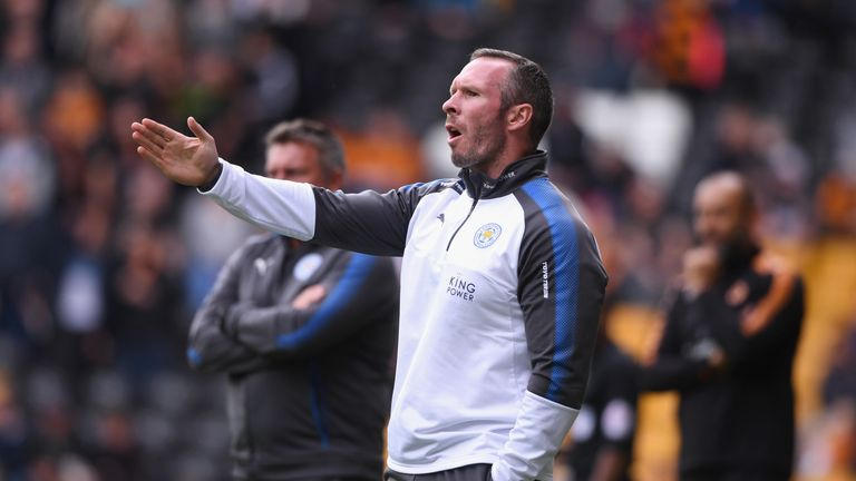 WOLVERHAMPTON, ENGLAND - JULY 29:  Leicester City assistant manager Michael Appleton looks on during the pre-season friendly match between Wolverhampton Wa