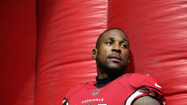 GLENDALE, AZ - AUGUST 12:  Cornerback Patrick Peterson #21 of the Arizona Cardinals prepares to take the field before the NFL game against the Oakland Raid