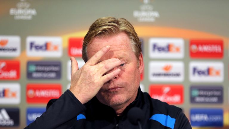 Everton manager Ronald Koeman during the press conference at Finch Farm, Liverpool, 27 September 2017