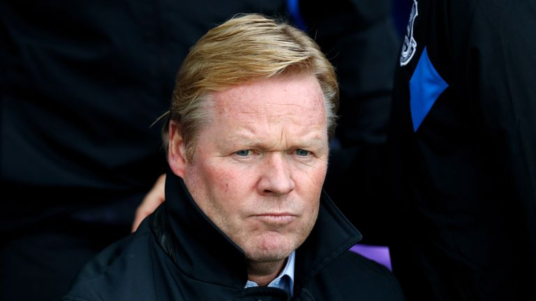 Everton manager Ronald Koeman during the Premier League match at Goodison Park against Burnley. Oct 1, 2017.