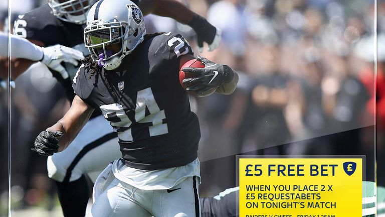 Sky Bet's free-bet offer for the Chiefs at Raiders NFL clash
