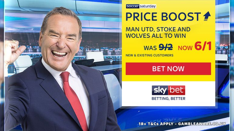 Sky Bet's Soccer Saturday Price Boost for October 21