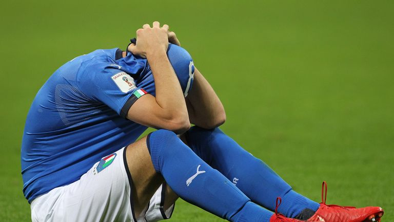 Alessandro Florenzi sums up the mood after Italy's World Cup failure
