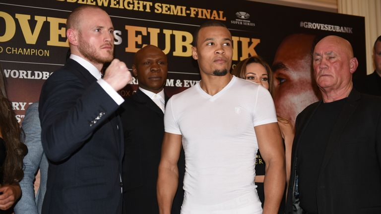 Groves and Eubank Jr fight in February's World Series semi-final
