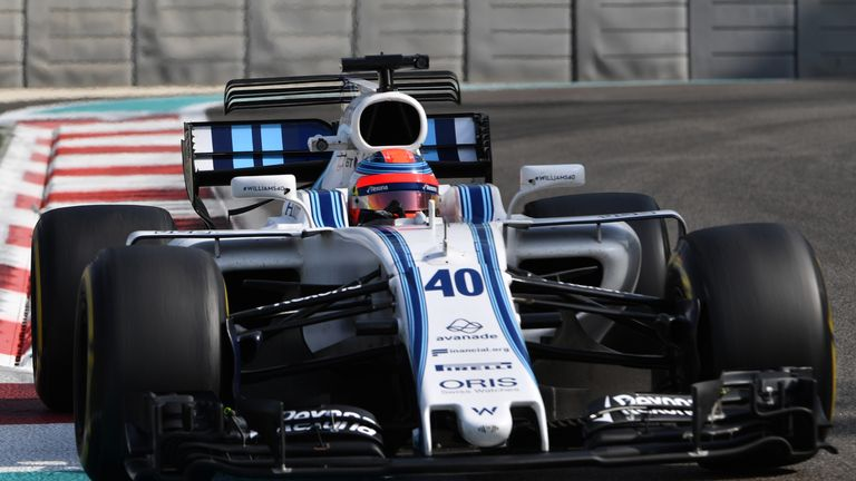 robert kubica clocks 100 laps in 2017 williams at f1 abu dhabi test f1 news. Black Bedroom Furniture Sets. Home Design Ideas