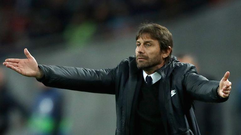 Antonio Conte saw his side beat Qarabag