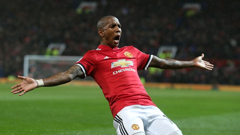 Ashley Young is among the top performers after scoring twice against Watford in midweek