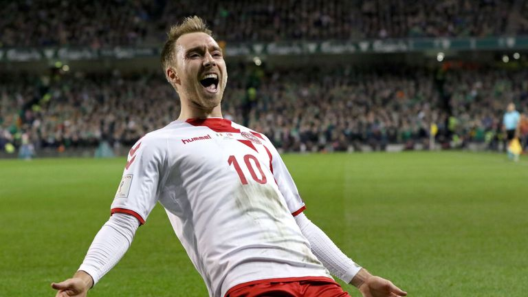 Christian Eriksen scored a hat-trick