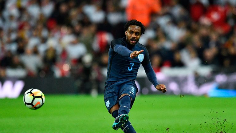 Danny Rose started at left-back for Gareth Southgate's side