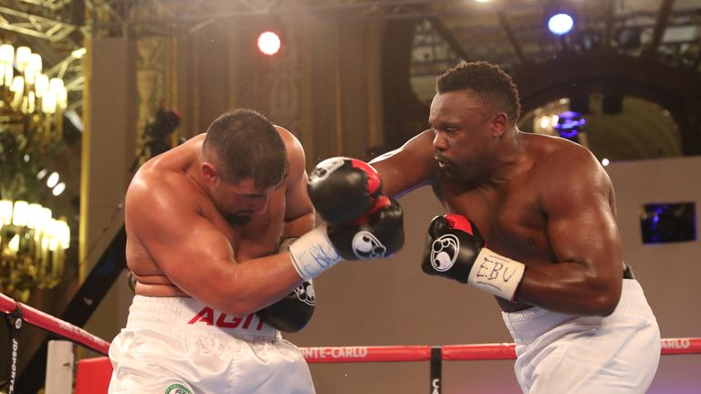 Dereck Chisora (R) could fight on Whyte's undercard