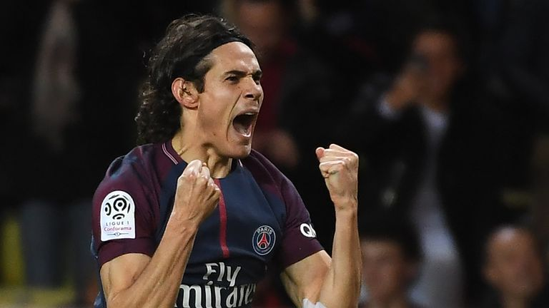 Paris Saint-Germain's Uruguayan forward Edinson Cavani has 24 goals in 25 Ligue 1 games this season