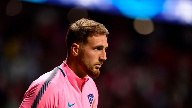 Atletico Madrid's Slovenian goalkeeper Jan Oblak could be a target for Chelsea as a replacement for Courtois