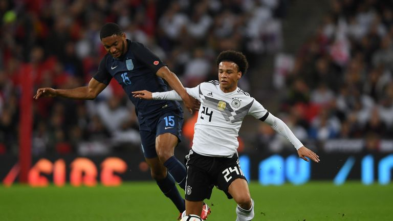 Joe Gomez was one of five debutants against Germany