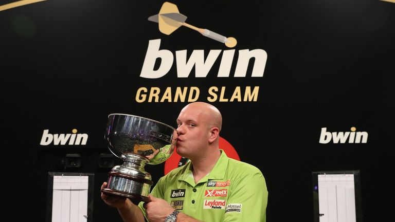 Michael van Gerwen was victorious again at the Grand Slam of Darts