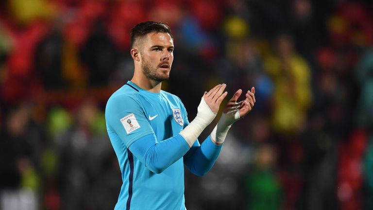 Jack Butland has played six times for England but injury means he will have to wait to add to his tally