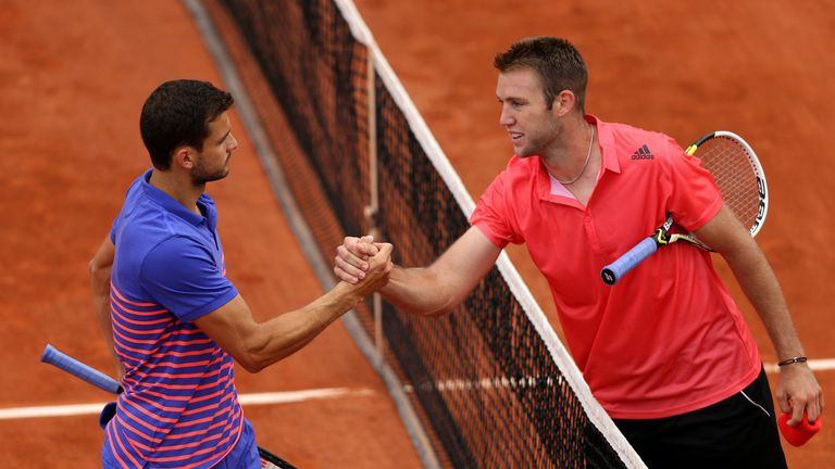Jack Sock will take on Grigor Dimitrov for a place in the final on Saturday