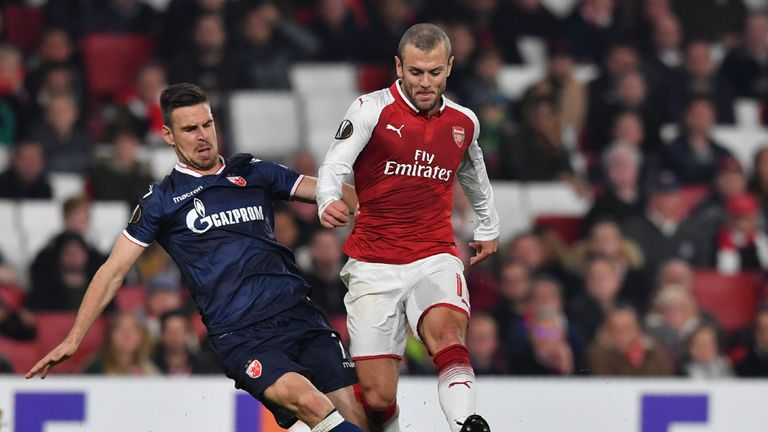 Wilshere has predominantly featured in the cup competitions this season