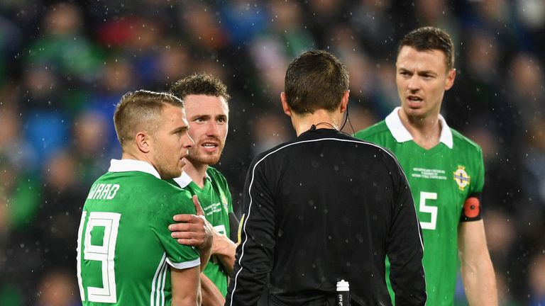 Northern Ireland were incensed at the referee's decision