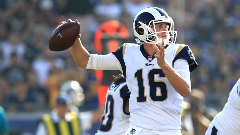 Rams QB Jared Goff has shown remarkable improvement from his first to second year