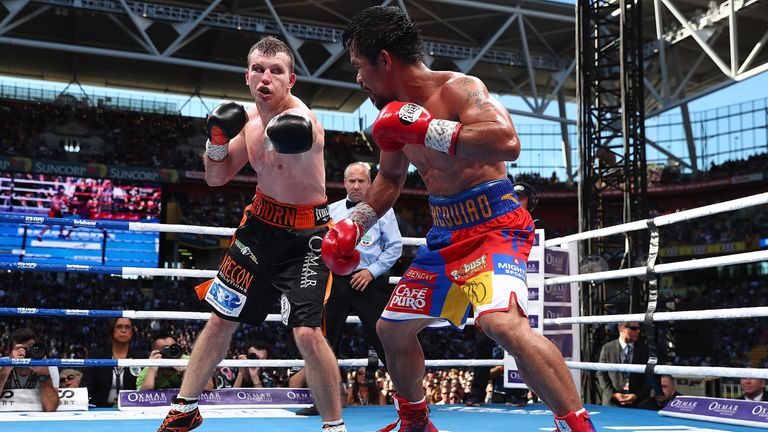 Jeff Horn defeated Manny Pacquiao on points last July