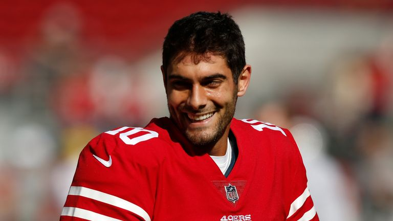 Jimmy Garoppolo has won all of his first three starts at QB for San Francisco