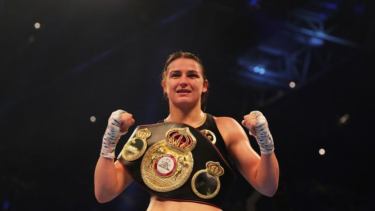 Katie Taylor will face Victoria Bustos in New York on April 28, live on Sky Sports
