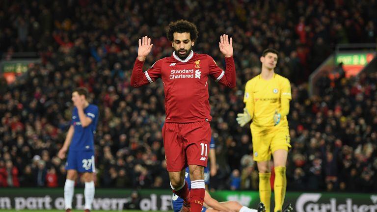 Mohamed Salah scored Liverpool's goal against Chelsea on Saturday