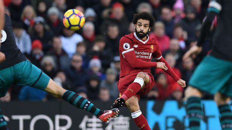 Salah is the Premier League's top-scorer with nine goals so far this season