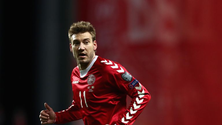Nicklas Bendtner came off the bench on Saturday night