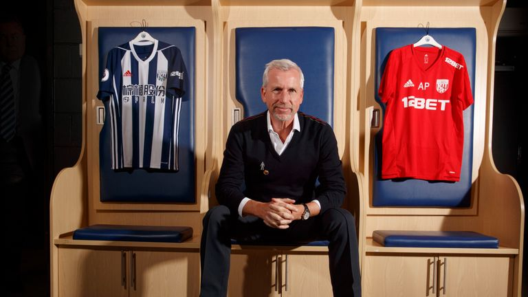 Pardew admits he will need to earn the respect and support of the West Brom faithful - Image credit: West Bromwich Albion FC/AMA